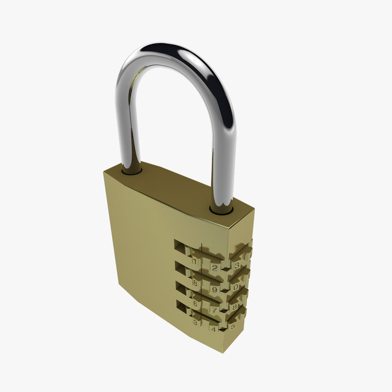 padlock lock 3d 3ds