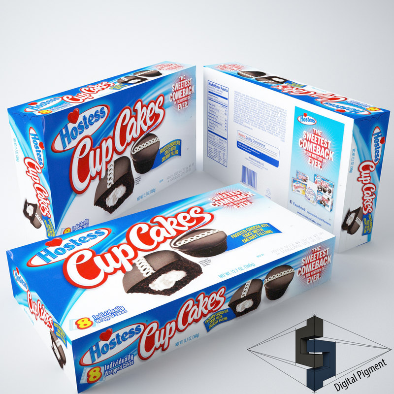 3ds hostess cupcakes box