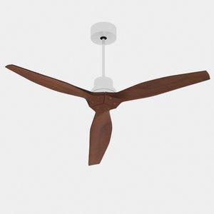 wood fan 3d model
