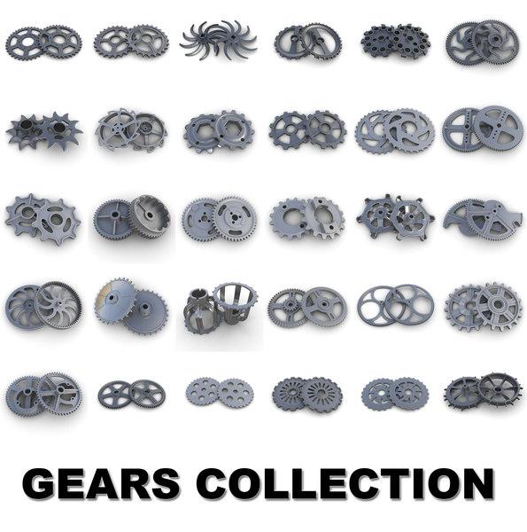 3d model of gears industrial