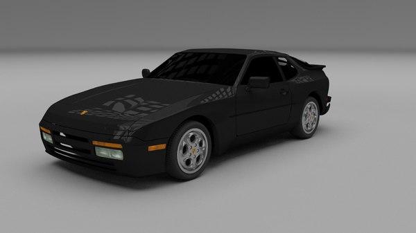 3d porsche 944 turbo