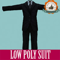 Men Suit Low Poly for Games