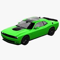 3d 2015 dodge challenger model