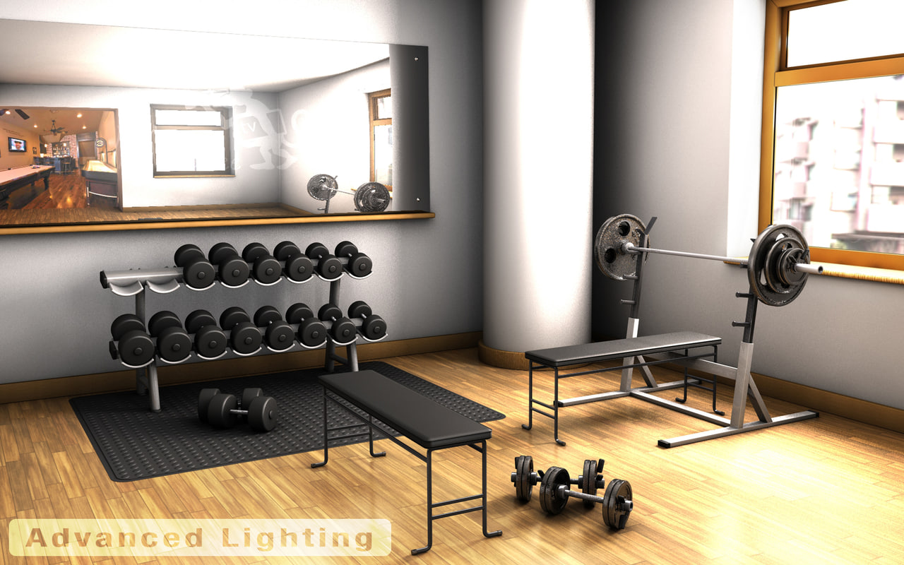 Home gym weights d model