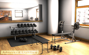 home gym weights 3d model