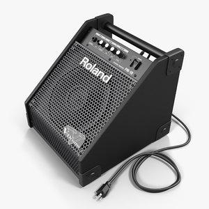 3d max roland pm-10 drum amplifier