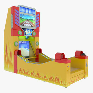 3d model of bowling redemption machine
