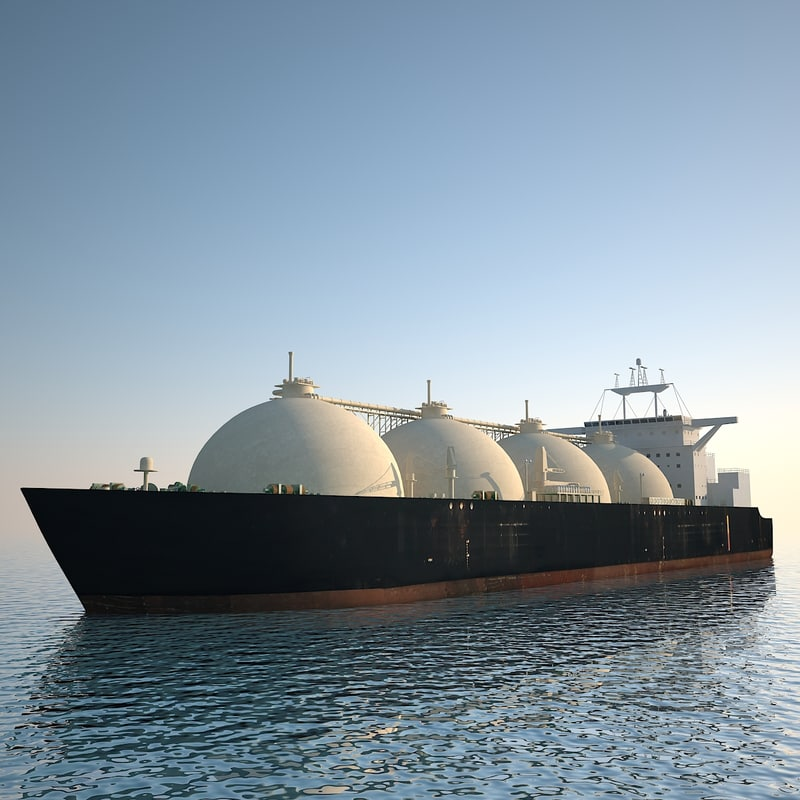 tanker ship lng 3d model
