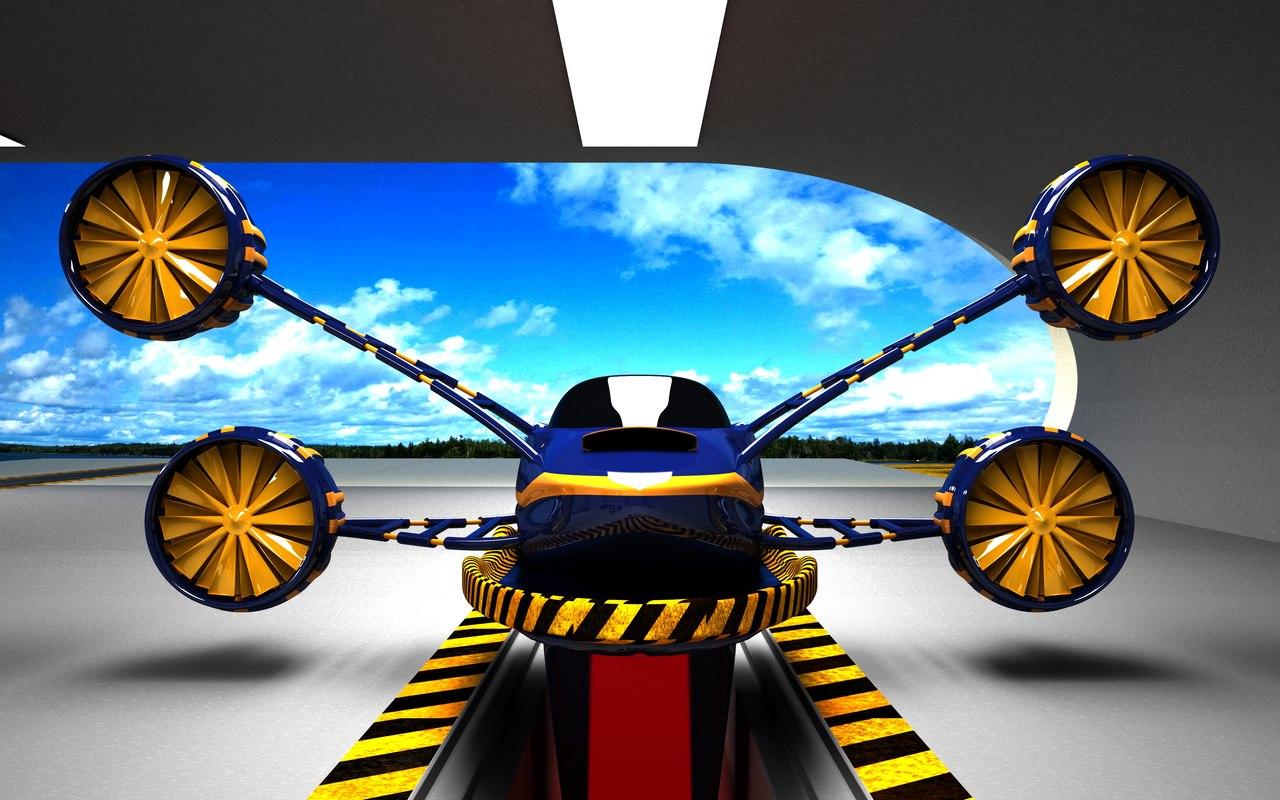 jet turbo blue 3d max