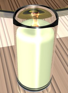 3d model wood wick candle