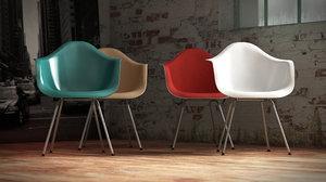3d vitra eames plastic armchair model