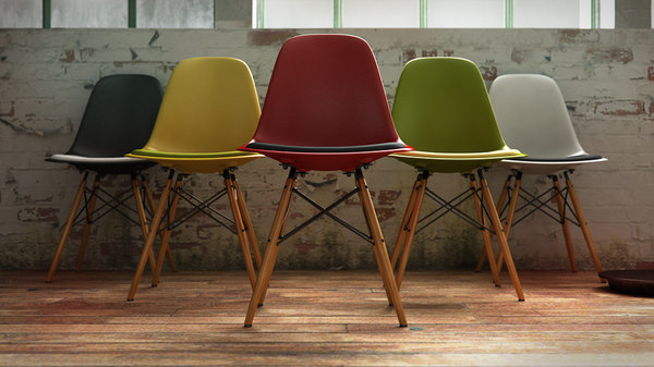 3d model vitra eames plastic chair