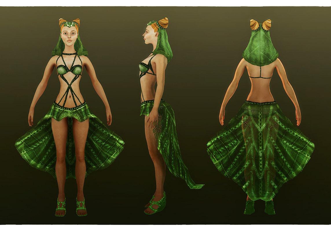 elf female 3d model