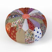 patchwork pouf 3d obj