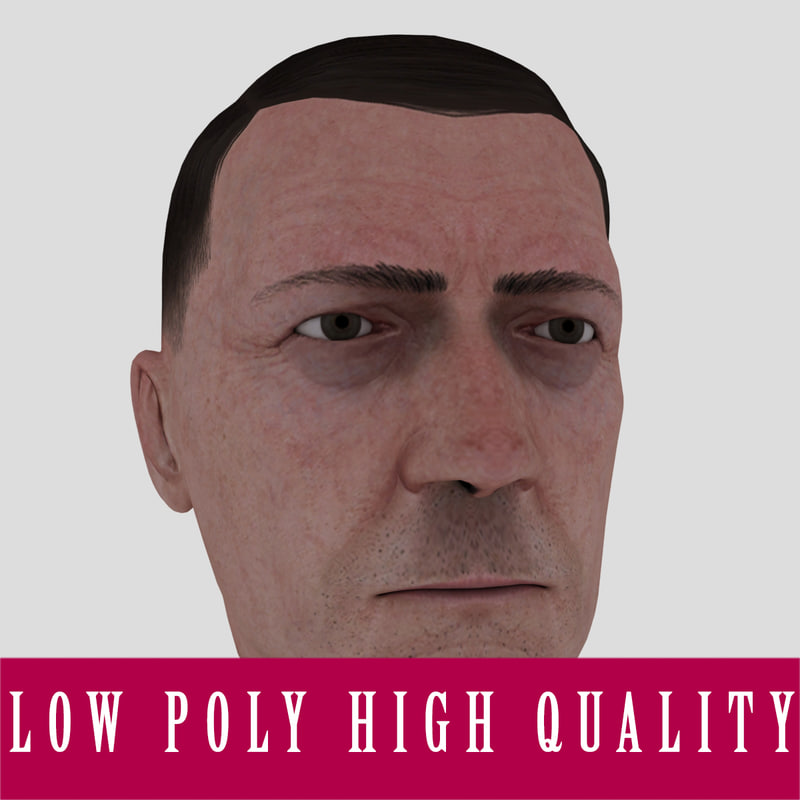 3ds max realistic male head rigged character