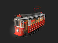 3d nostalgic tram istanbul