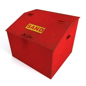 3d box sand