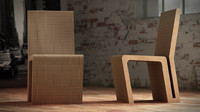 vitra wiggle chair 2 c4d