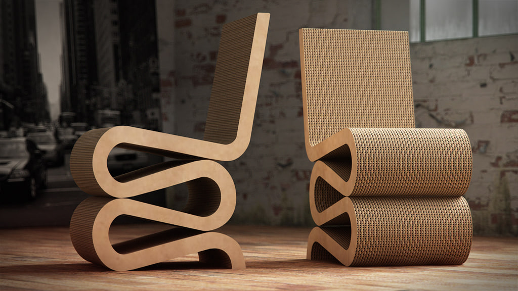vitra wiggle chair 1 3d model