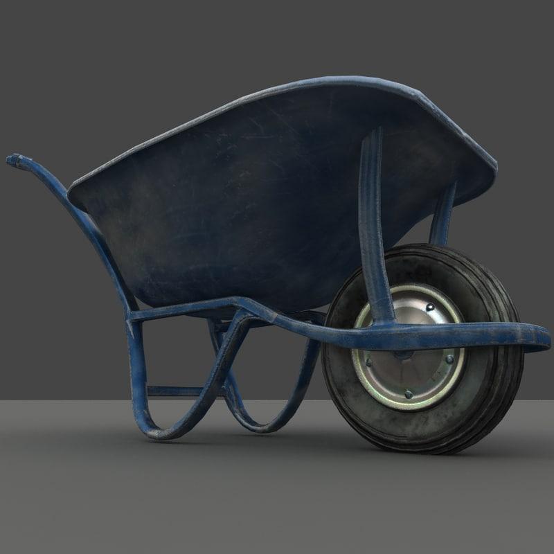 wheelbarrow barrow 3d model