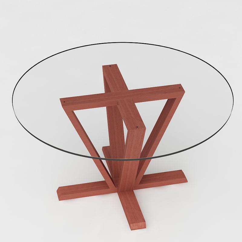 calligaris astro dining table 3d max