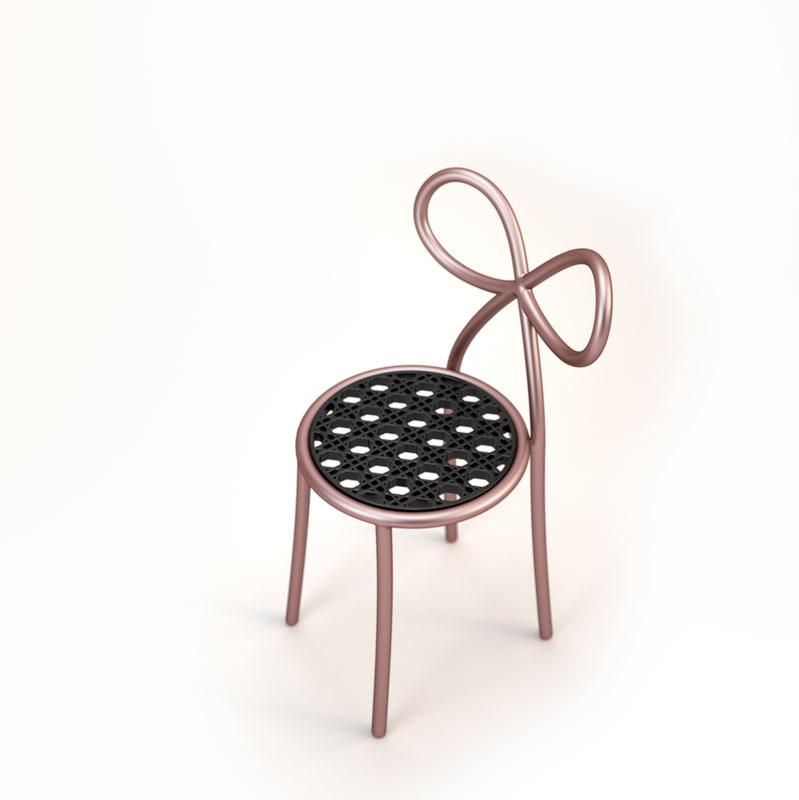 3d model miss dior chair