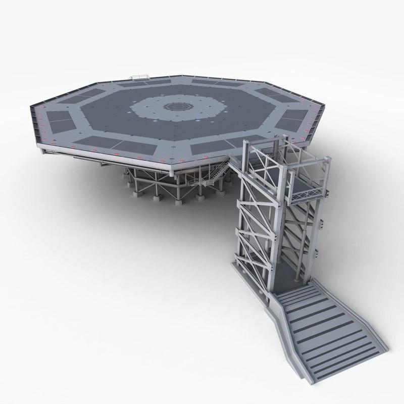 landing platform 3d obj