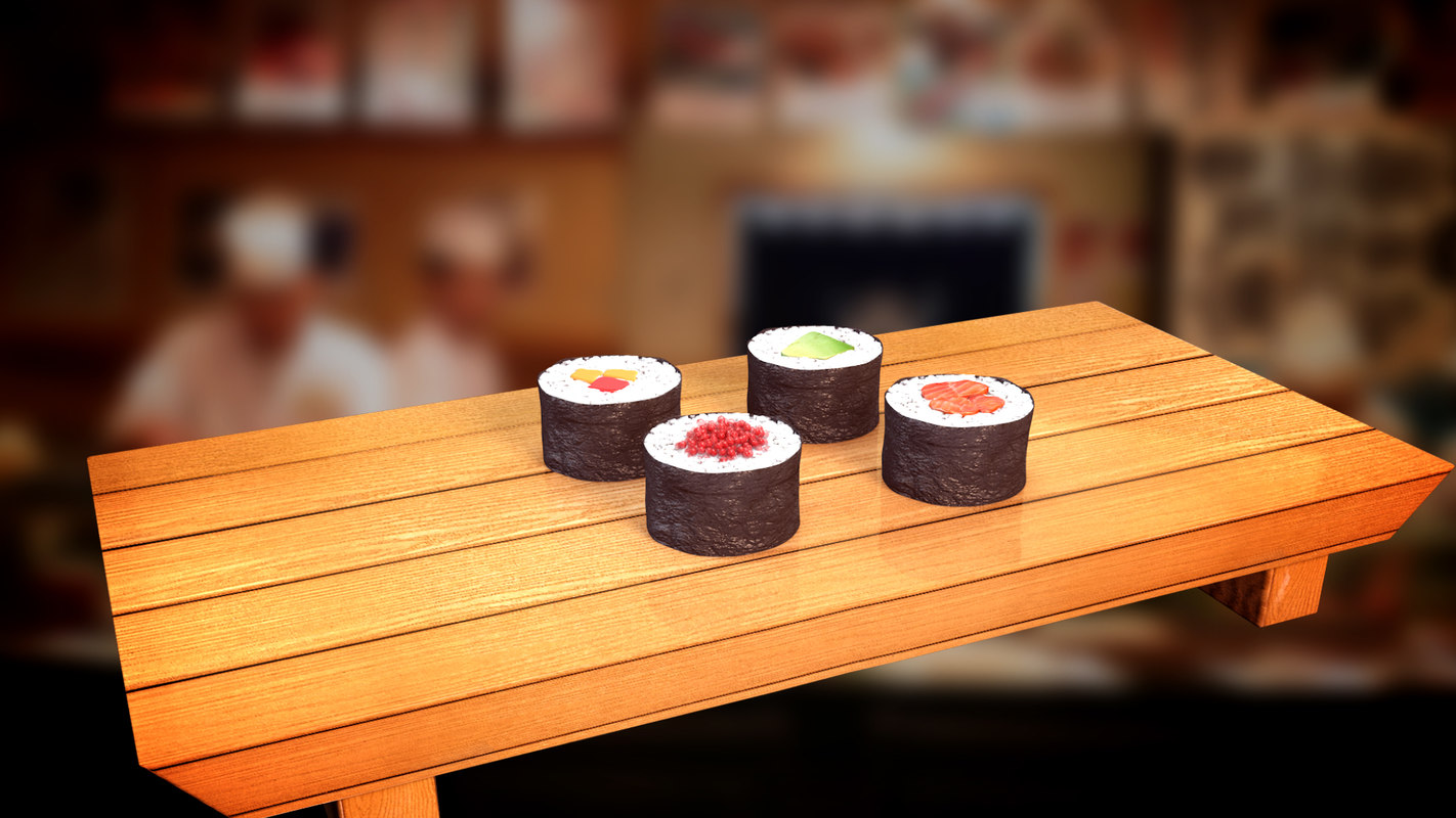 pieces sushi x