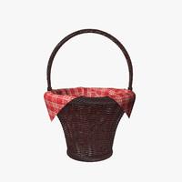 wicker basket napkin 3d max