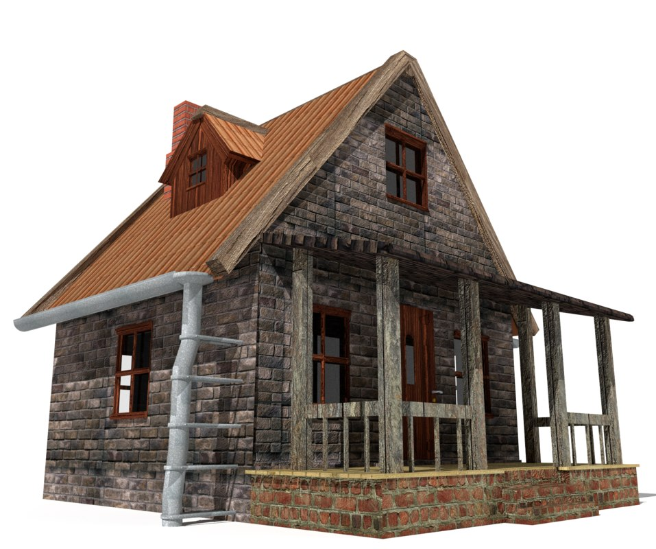 3d house rural country model