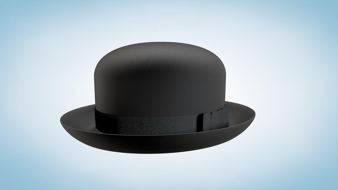 bowler derby hat 3d model