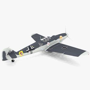 3d obj messerschmitt bf 109 g