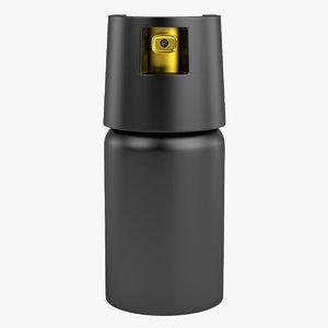 pepper spray 3d model