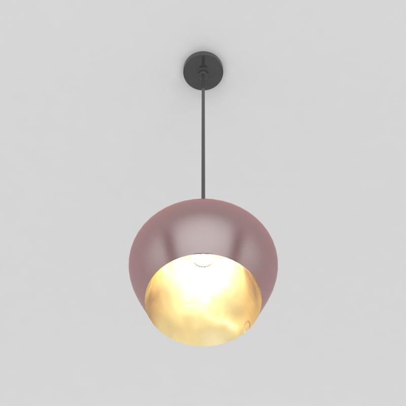 3d pendant lamp 3 bulb light