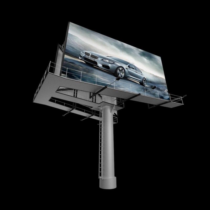 3d model billboard 1