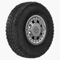 3ds max road wheel hummer h1
