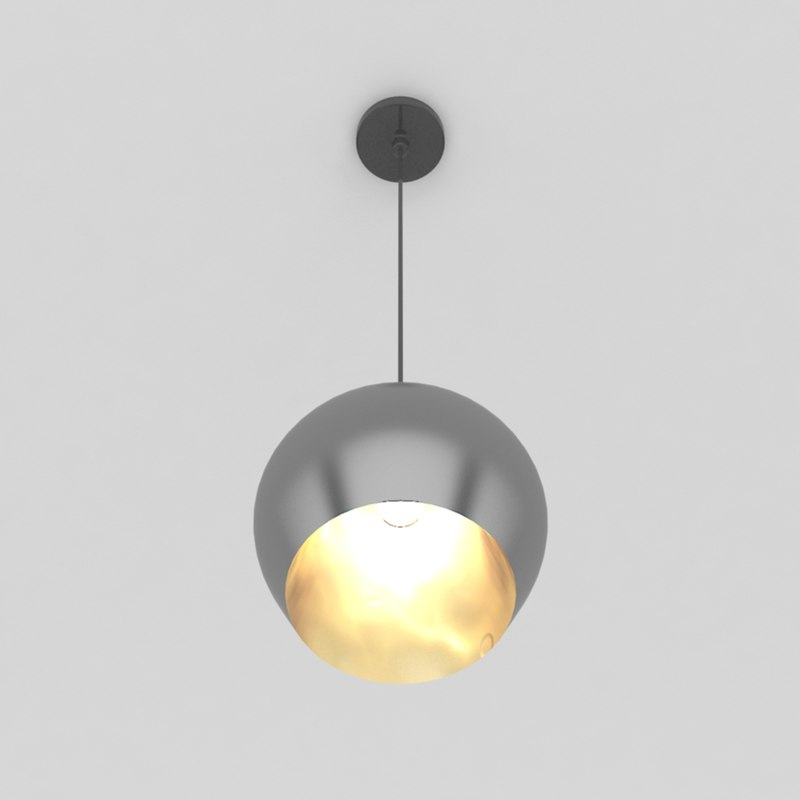 pendant lamp 4 bulb light 3d obj