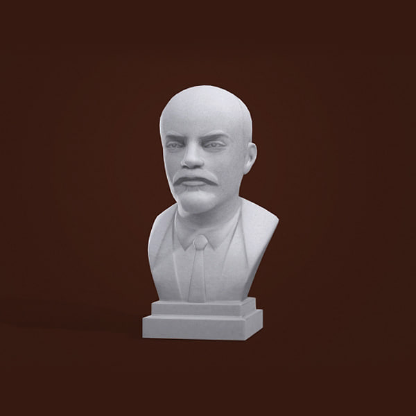 bust lenin man 3d model
