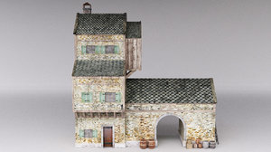 3ds max medieval house