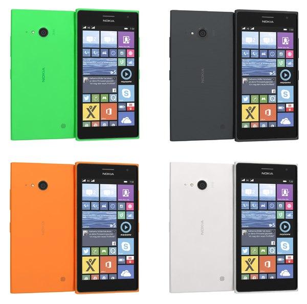 3d model nokia lumia 730 735