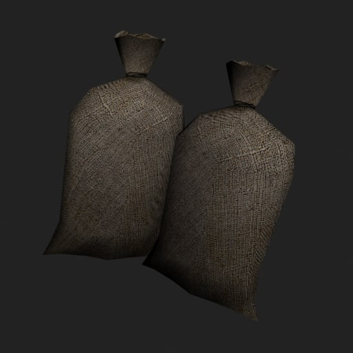 small old bag 3d model
