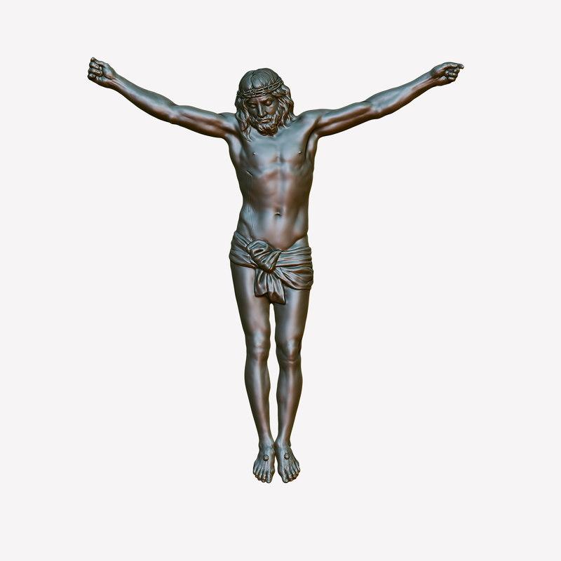 3d crucifixion sculpture-relief model