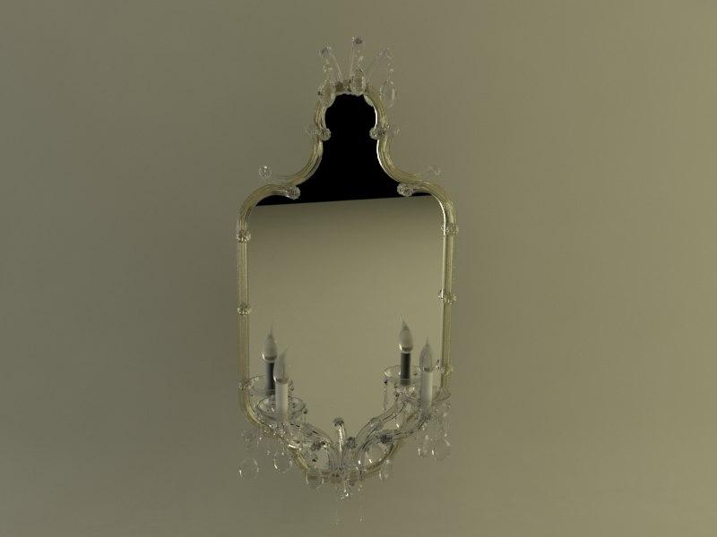 italy mirror light 3d max
