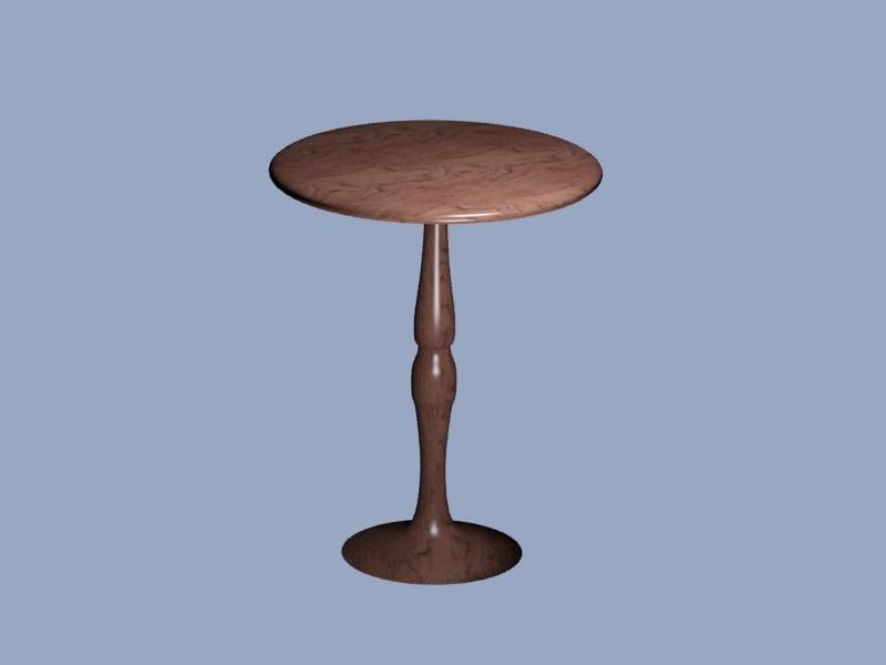 3d model wooden table