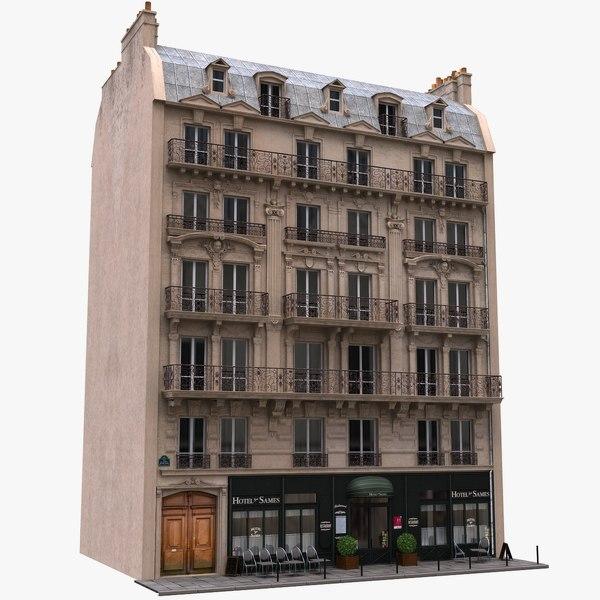 3d model france building tenement