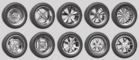 Car Wheel Rims Pack 1