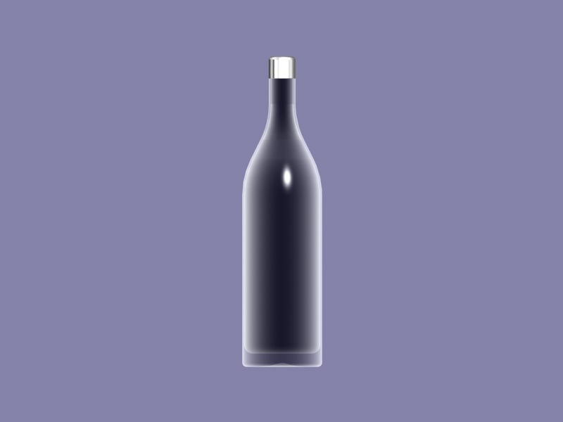 free glass bottle 3d model