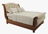 california king bed 3d model