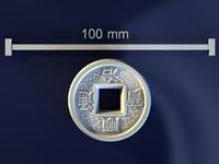 feng shui coin 3d model