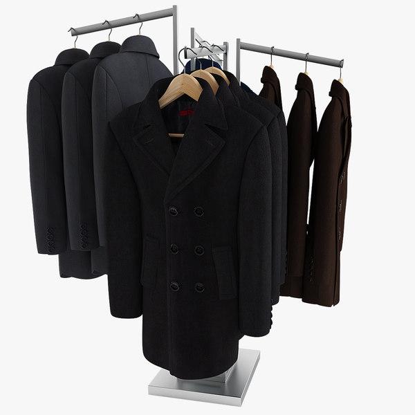 3ds max men s coats rack